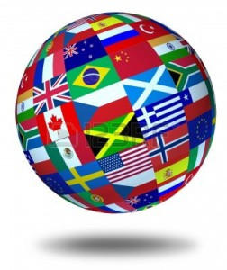 10909934-world-flags-sphere-floating-and-isolated-as-a-symbol-representing-international-global-cooperation-i